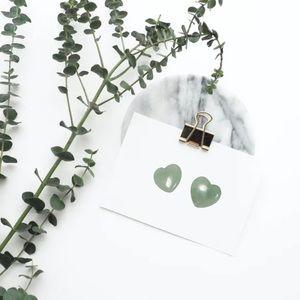 GREEN AVENTURINE TINY HEART CRYSTAL